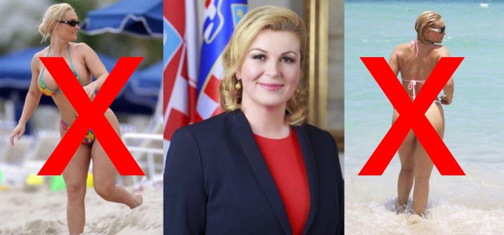 A Combination Of Photos Which Show Croatias President Kolinda Grabar Kitarovic C And