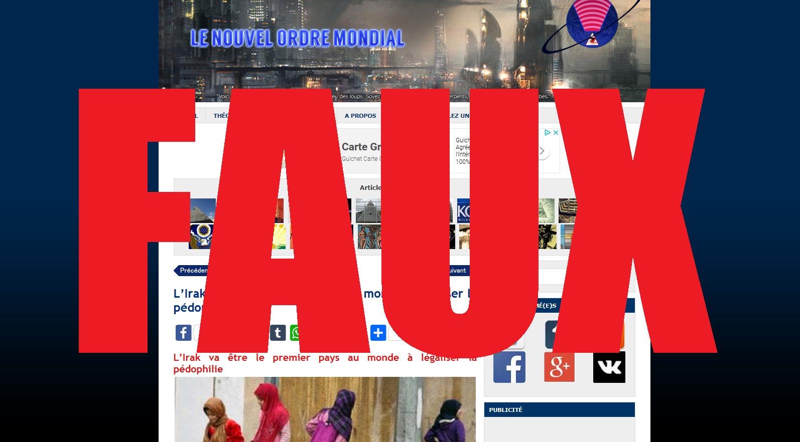 Une capture d'écran du site nouvelordremondial.cc, le 12 avril 2018