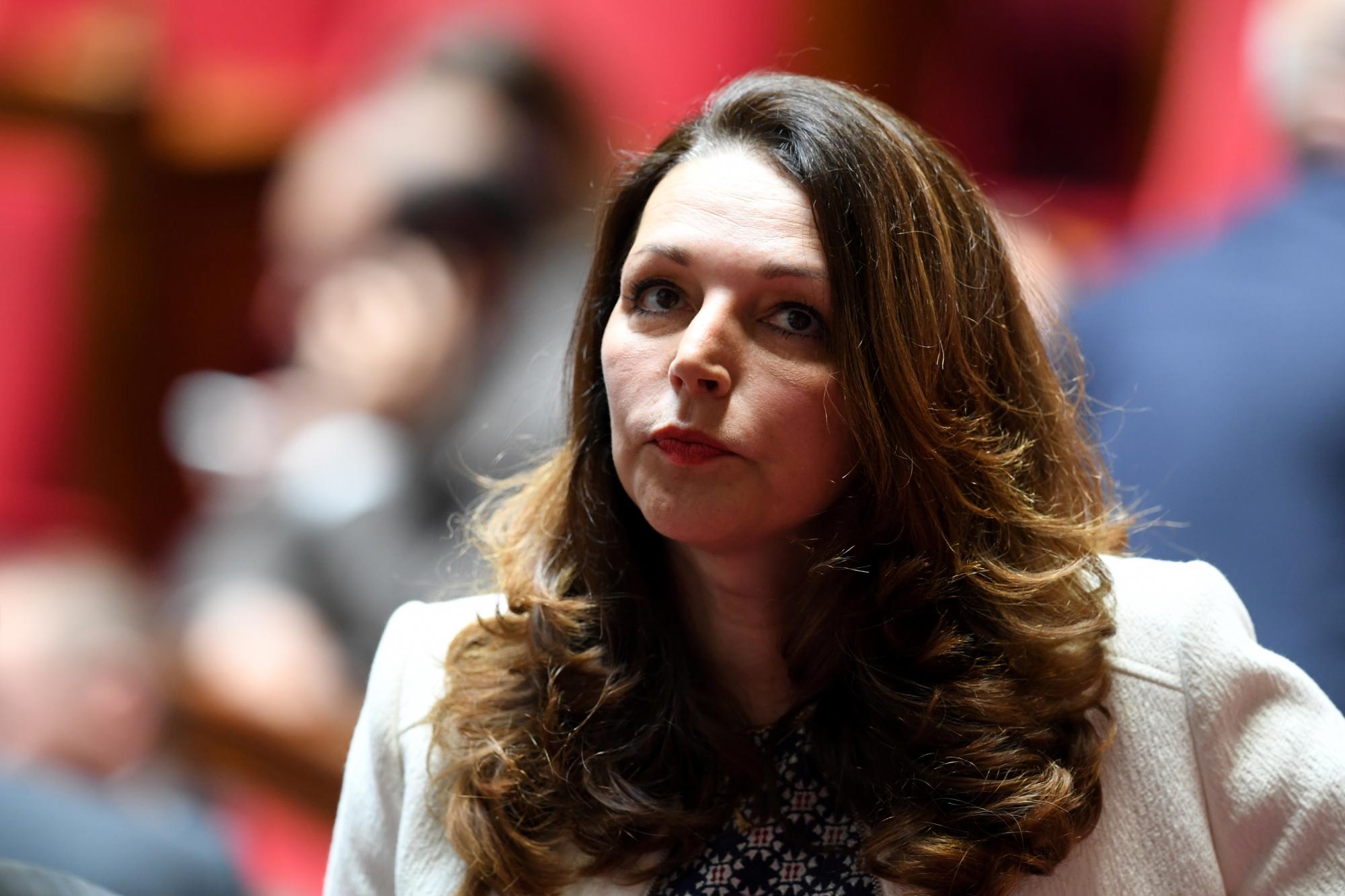 La députée LR des Bouches-du-Rhône Valérie Boyer, le 23 mai 2018 à l'Assemblée nationale