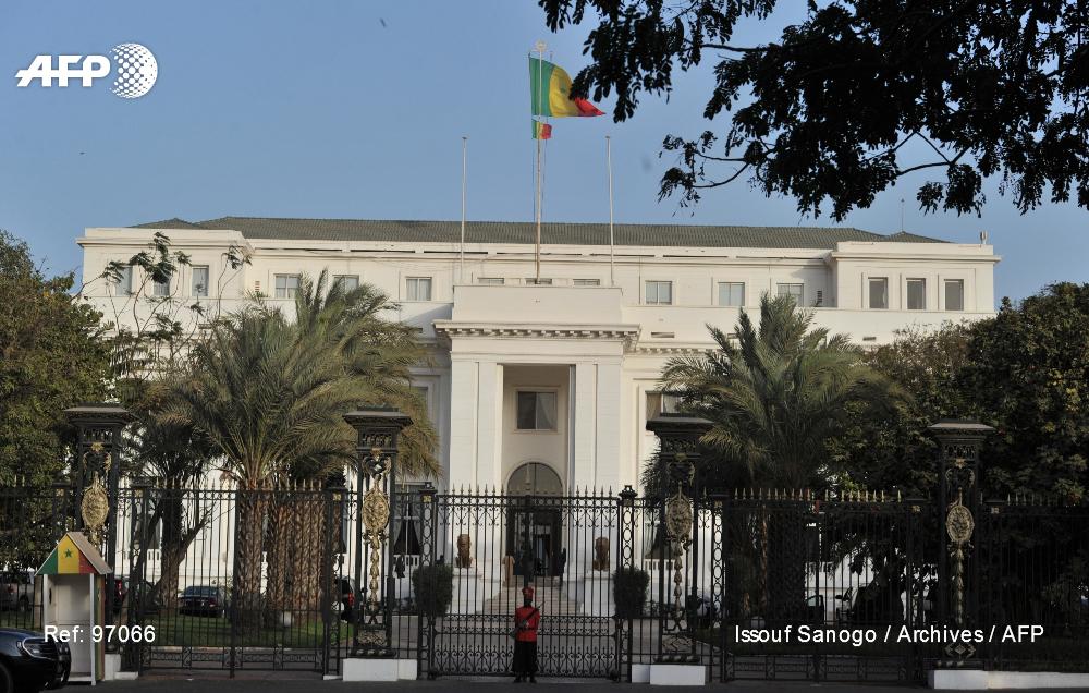 Photo de février 2012 montrant le palais présidentiel sénégalais à Dakar