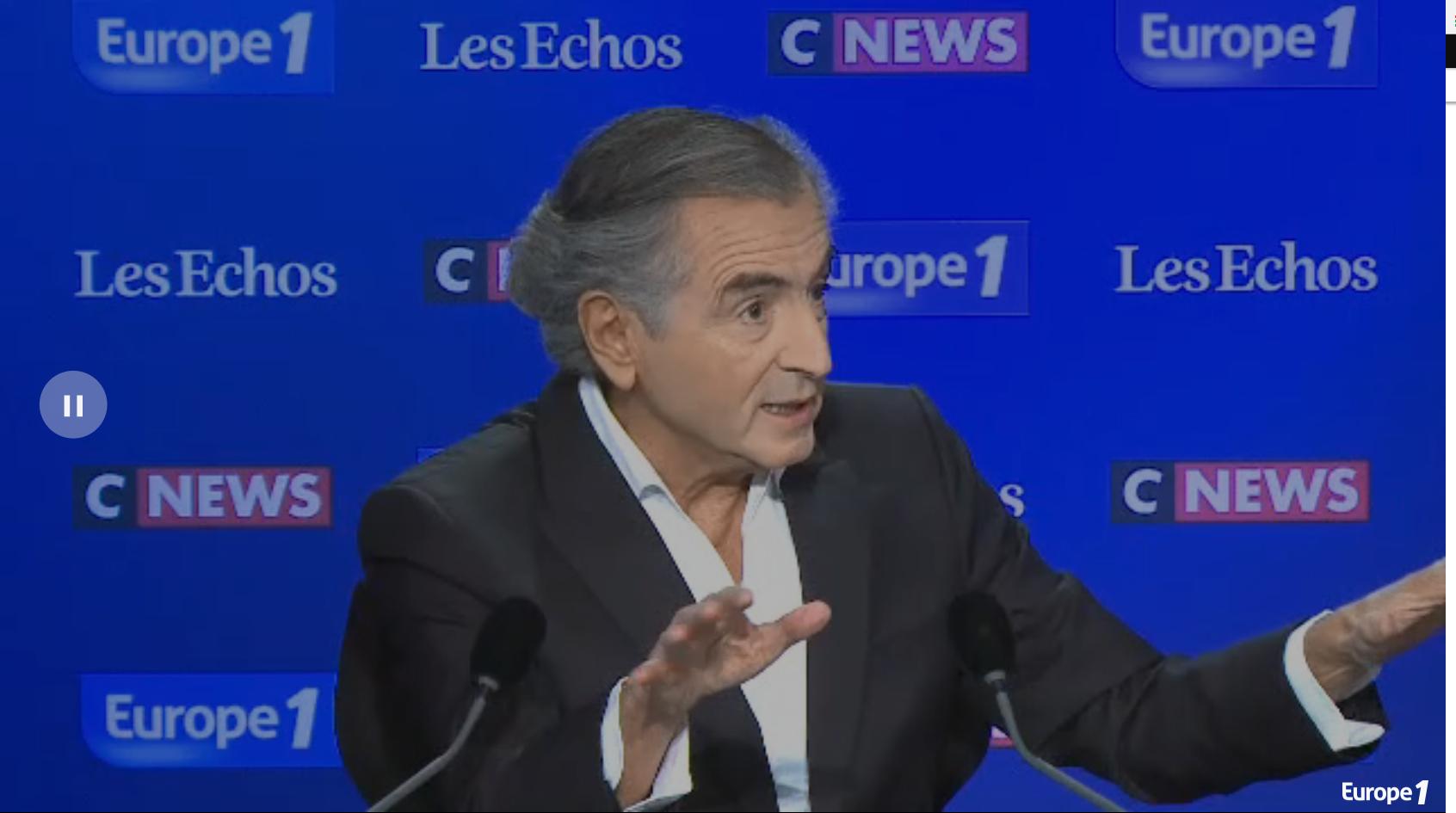 L'écrivain Bernard Henri-Lévy, dimanche 24 juin 2018 dans l'émission Le Grand Rendez-Vous