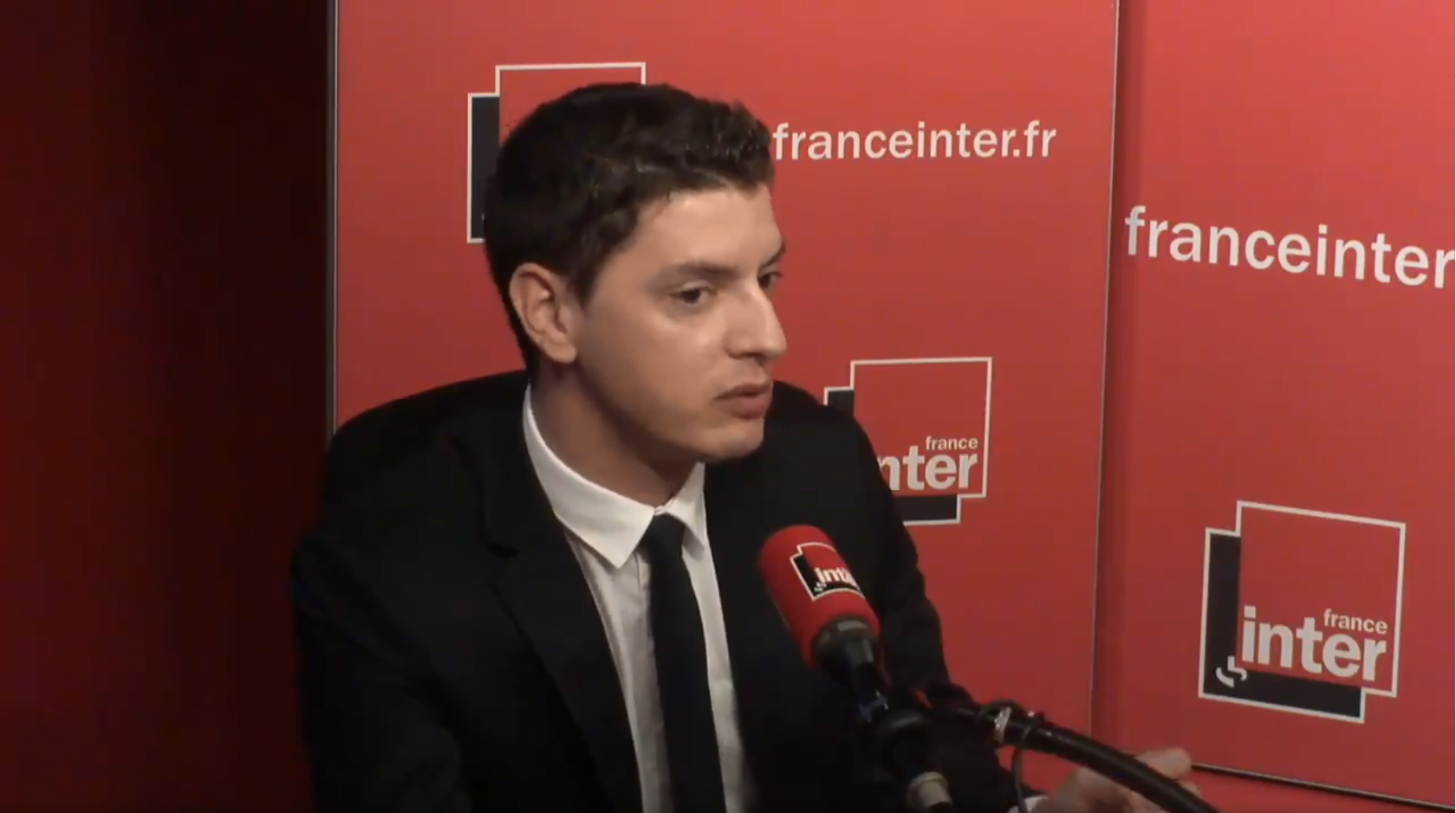 Capture d'écran de l'interview de Mickaël Nogal sur France Inter