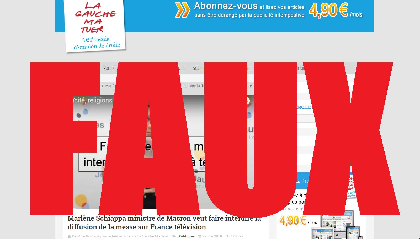 Une capture d'écran du site LaGaucheMaTuer, le 24 mai 2018