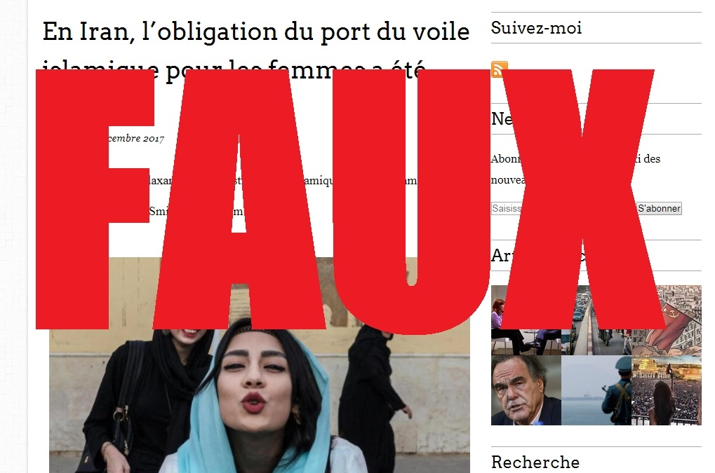 Capture d'écran du site La Gazette du Citoyen