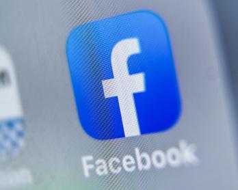 Le logo Facebook sur une tablette, le 28 août 2019