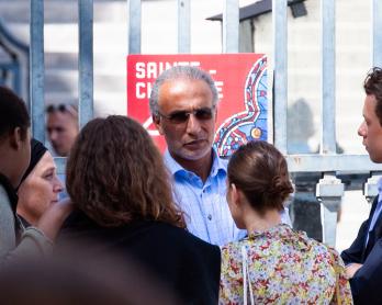 L'islamologue Tariq Ramadan, le 30 août 2019 à Paris