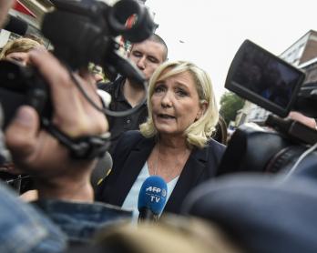 Marine Le Pen, le 8 septembre 2019 à Hénin-Beaumont