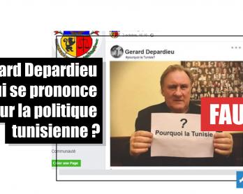 Gérard Depardieu qui se prononce sur la politique tunisienne ? Faux
