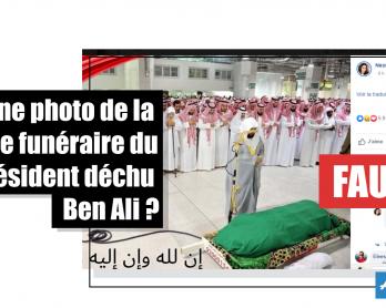 Une photo de la prière funéraire du président déchu Zine El Abidine Ben Ali ? Faux