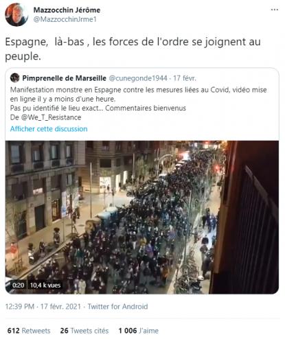 Violentes émeutes suite à l'arrestation d'un rappeur — Espagne