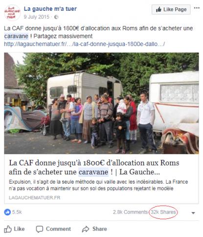 1 800€ d'allocation de la Caf aux seuls Roms étrangers pour