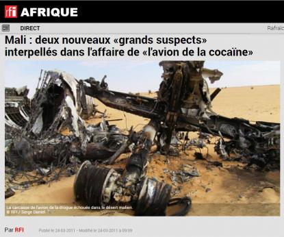 Pas d'implication de Daech, affirme l'armée française — Crash au Mali