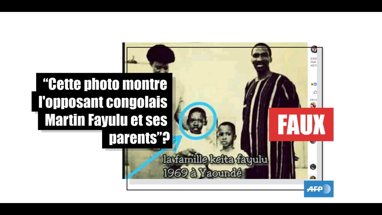 Non, cette photo ne montre pas l'opposant congolais Martin Fayulu et ses parents, mais la famille Sankara