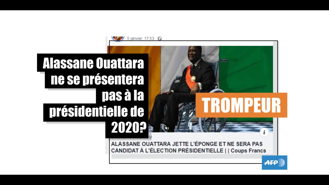 Non, le président ivoirien ne s'est pas encore clairement prononcé