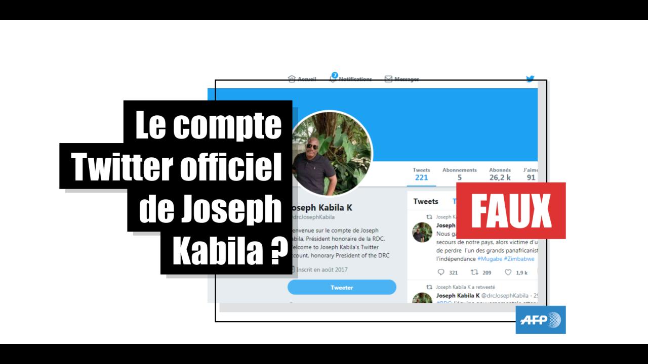 RDC: un prétendu compte Twitter de Kabila est un faux