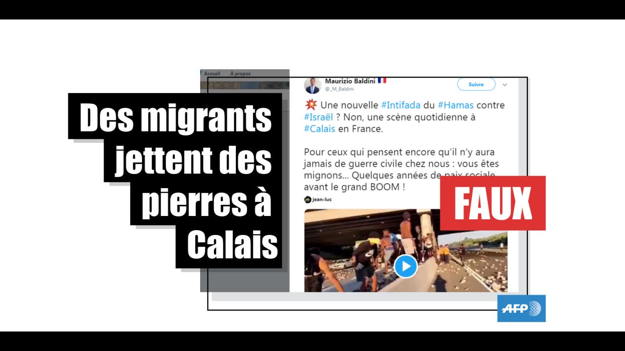 Non, cette vidéo ne montre pas des migrants à Calais mais une